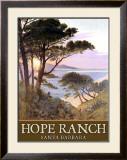 Hope Ranch Beach, Santa Barbara Framed Giclee Print