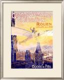Grande Semaine d'Aviation Framed Giclee Print by Charles Rambert