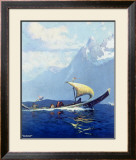 Northern Pacific Railroad, Alaska Framed Giclee Print