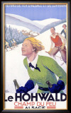 Le Hohwald Ski Resort Framed Giclee Print