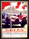 Grand Prix Allemagne Framed Giclee Print by Alfred Hierl