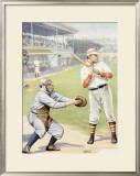 Baseball at the Plate, Batter Up! Framed Giclee Print