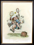 Mixed Doubles Framed Giclee Print by Gary Patterson