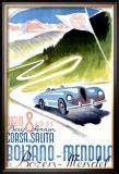 Corsa Bolzano to Mendola Framed Giclee Print by Franz Lenhart