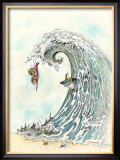Over the Falls Framed Giclee Print by Gary Patterson