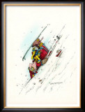 Downhill Racer Framed Giclee Print by Gary Patterson