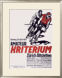 Kriterium Bicycle Race Framed Giclee Print