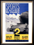 Sports d'Hiver, France Framed Giclee Print by Girous