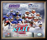 Super Bowl XLII Giants vs. Patriots Framed Photographic Print