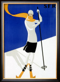 St Croix, Snow and Ski Framed Giclee Print
