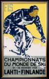 Finnish Snow Ski Championship Framed Giclee Print