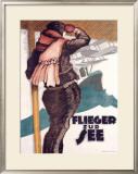 Flieger Zur See Framed Giclee Print by Hans Rudi Erdt