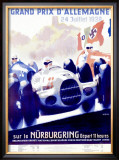 Grand Prix d'Allemagne Framed Giclee Print by Alfred Hierl