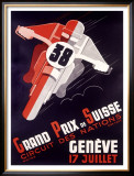 Grand Prix National Motorcycle Framed Giclee Print