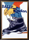 Bally Radar Snow Ski Boot Framed Giclee Print