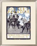 Golfer's Paradise, St. Augustine, Florida Framed Giclee Print