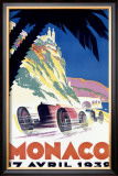Monaco F1 Grand Prix, c.1932 Framed Giclee Print by Robert Falcucci