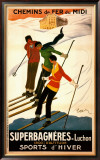Superbagneres-Luchon, Sports d&#39;Hiver Prints by Leonetto Cappiello