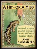 Hit or Miss, 1935 Framed Giclee Print