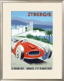 Synergie Monaco Grand Prix, c.1990 Framed Giclee Print