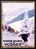Winter Sports in the Vosges Framed Giclee Print