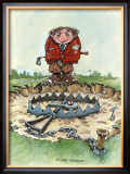 The Trap Framed Giclee Print by Gary Patterson