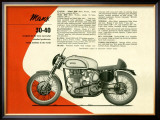 British BSA Manx 30 40 Motorcycle Framed Giclee Print