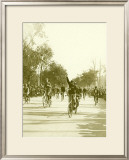 Bicycle Race Parade Framed Giclee Print