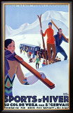 Mont Blanc, Sports d'Hiver Framed Giclee Print