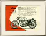 British BSA Manx 30 40 Motorcycle Framed Giclee Print