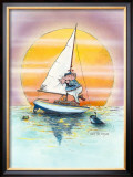 Boat Lover Framed Giclee Print by Gary Patterson