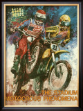 The Stadium Motorcross Phenomena Framed Giclee Print