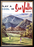 Sun Valley, Idaho Framed Giclee Print