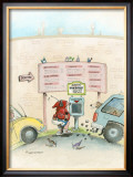 The Pit Stop Framed Giclee Print by Gary Patterson