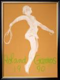 Roland Garros 1990 Prints by Claude Garache