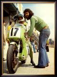 Kawasaki in the Pit, Grand Prix Framed Giclee Print