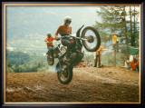 Bulltaco Motorcycle MX Framed Giclee Print by Giovanni Perrone