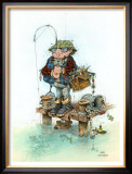 Bait & Wait Framed Giclee Print by Gary Patterson