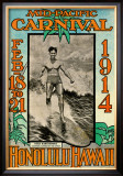 Mid-Pacific Carnival, 1914 Framed Giclee Print