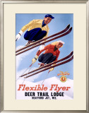 Deer Lodge Flexible Flyer Ski, c.1954 Framed Giclee Print by Sasha Mauer