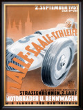 German Automobile Street Race, c.1951 Framed Giclee Print