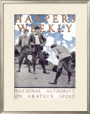 Harper's Weekly, National Authority on Amateur Sport Framed Giclee Print by Maxfield Parrish