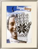 Engelberg Ski Framed Giclee Print by Herbert Matter