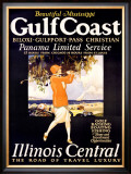 Gulf Coast, Illinois Central Framed Giclee Print by Proehl 