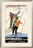 Superbagneres-Luchon, Sports d'Hiver Framed Giclee Print by Leonetto Cappiello
