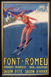 Font-Remeu, Saison d'Hiver Framed Giclee Print by Achille Luciano Mauzan