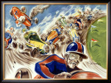 Midget Racing Framed Giclee Print by Geo Ham