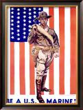Be a U.S. Marine, 1930 Framed Giclee Print