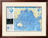 Pacific Ocean Floor Map Prints
