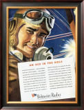 WWII US Army Air Corps Pilot Poster Framed Giclee Print